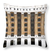 London Bridge Hospital Throw Pillow