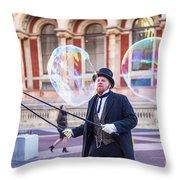 London Bubbles 4 Throw Pillow