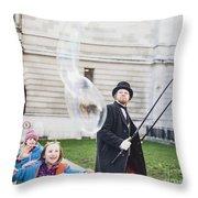 London Bubbles 6 Throw Pillow