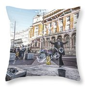 London Bubbles 8 Throw Pillow