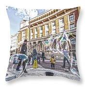 London Bubbles B Throw Pillow