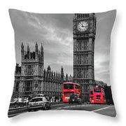 London Buses Throw Pillow