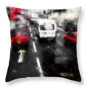 London By Bus Throw Pillow