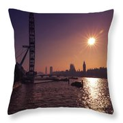London By Night By Day Throw Pillow