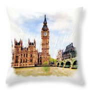 London Calling Throw Pillow