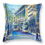 London City Oxford Street Throw Pillow