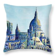London City St Paul's Cathedral Throw Pillow