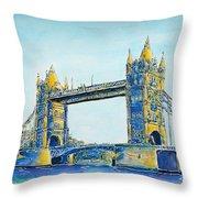 London City Tower Bridge Throw Pillow