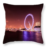 London Cityscape On River Thames Throw Pillow