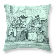 London Coffee Stall Throw Pillow