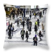 London Commuter Art Throw Pillow