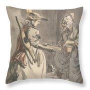 London Cries - A Milkmaid Throw Pillow