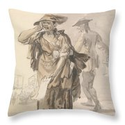London Cries - Last Dying Speech And Confession Throw Pillow