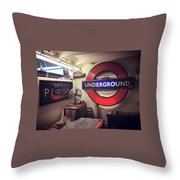 London Details Throw Pillow