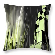 London E1 Skyline Abstract  Throw Pillow