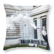 London Explosion 2 Throw Pillow
