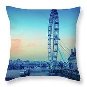 London Eye At Dusk Throw Pillow