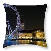 London Eye At Night Throw Pillow