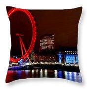 London Eye Throw Pillow by Heather Applegate