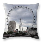 London Eye View Throw Pillow