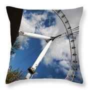 London Ferris Wheel Throw Pillow