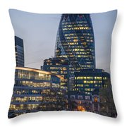 London Financial District Throw Pillow