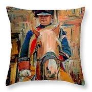London Guard On Horse Throw Pillow