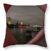 London In My Window Throw Pillow