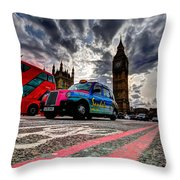 London In One Picture Throw Pillow