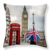 London Lady Throw Pillow