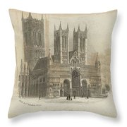 London Lincoln Cathedral. Throw Pillow