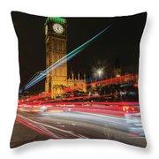 London Lit Throw Pillow