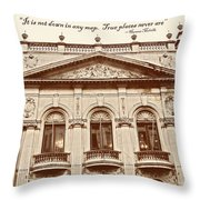 London Living Quote Throw Pillow