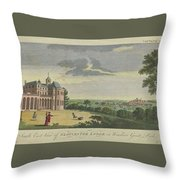 London Magazine, London South East View Of Gloucester Lodge In Windsor Great Park Published Aug 1780 Throw Pillow