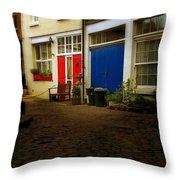London Mews Throw Pillow