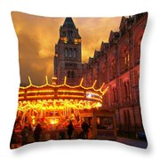 London Museum At Night Throw Pillow