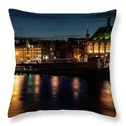 London Night Magic - Colorful Reflections On The Thames River Throw Pillow