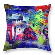 London Portrait  Throw Pillow