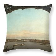 London Seen Through An Arch Of Westminster Bridge Throw Pillow