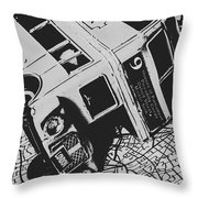 London Side Streets Throw Pillow