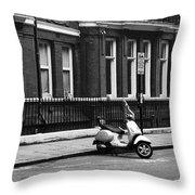 London Sixties Lambretta Throw Pillow