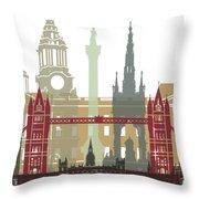 London Skyline Poster Throw Pillow
