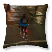 London Streets In Cold Whether . Throw Pillow