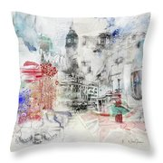 London Study Throw Pillow