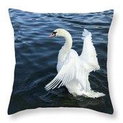 London Swan Throw Pillow