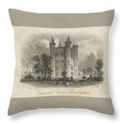 London Tattershall Castle, Lincolnshire. Published 1 Dec 1849 Throw Pillow
