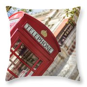 London Telephone 3 Throw Pillow