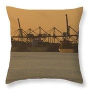 London Thamesport Throw Pillow