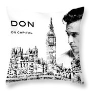 London The Fashion Capital Throw Pillow by ISAW Company