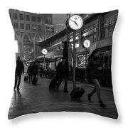 London Time Throw Pillow